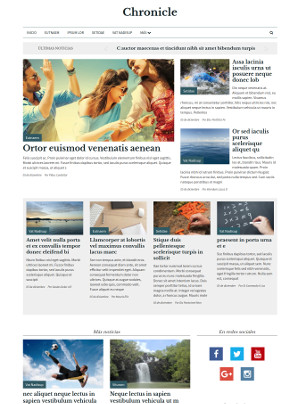 Plantilla Chronicle de Medios CMS